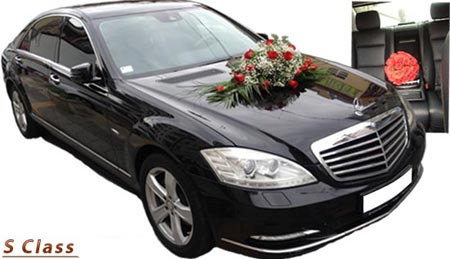 Mercedes Benz S-Class Long - min. 3 hour of rent for wedding day