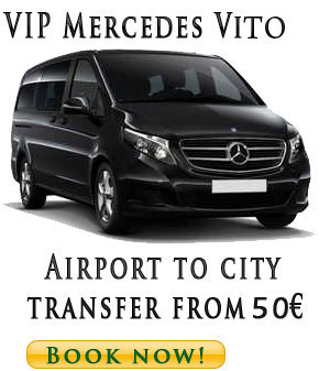 VIP Van Mercedes Vito and V Class transfer from Belgrade airport to city or Hotel from 50€ one way